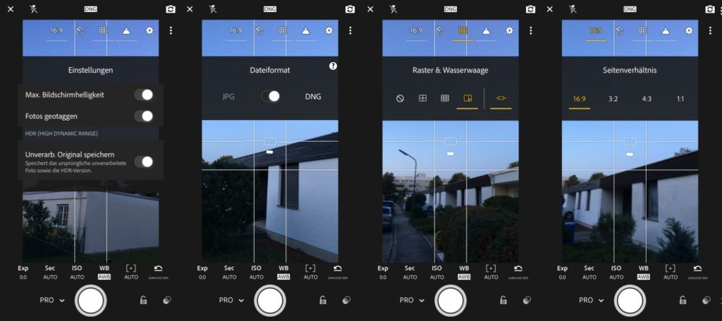 Adobe Photoshop Lightroom Mobile Einstellungen