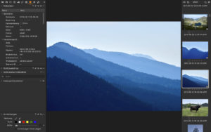 Capture One: Register Metadaten (Bildbearbeitung)