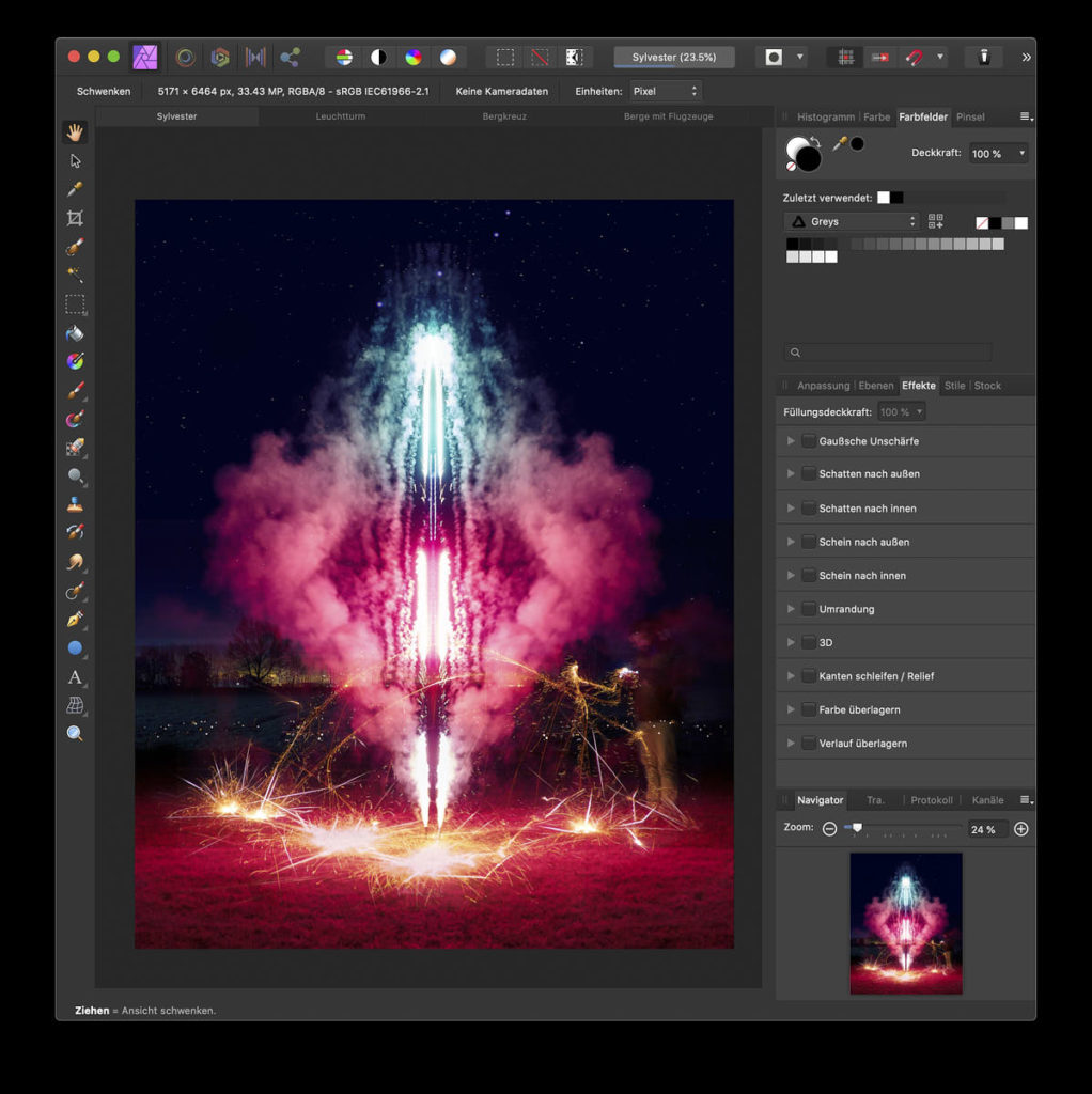 Affinity Photo - Color, Effects